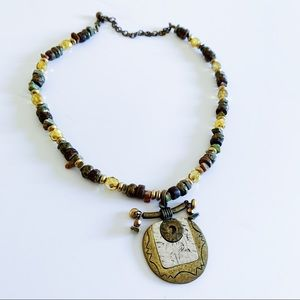 3/$10🎉Chico's Tribal Style Pendant Bead Necklace